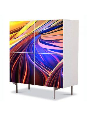 Comoda cu 4 Usi Art Work Abstract Cald si rece, 84 x 84 cm
