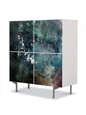 Comoda cu 4 Usi Art Work Abstract Pictura abstracta, 84 x 84 cm