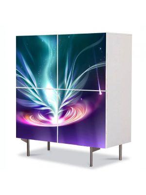 Comoda cu 4 Usi Art Work Abstract Vortex, 84 x 84 cm