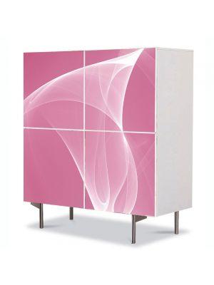 Comoda cu 4 Usi Art Work Abstract Roz, 84 x 84 cm