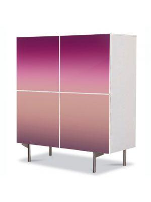 Comoda cu 4 Usi Art Work Abstract Degrade roz, 84 x 84 cm