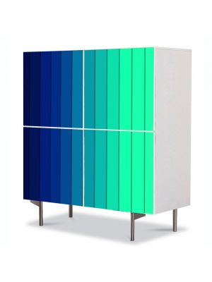 Comoda cu 4 Usi Art Work Abstract Linii verticale, 84 x 84 cm
