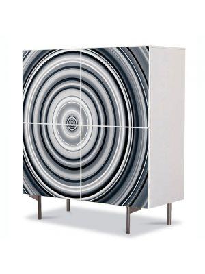 Comoda cu 4 Usi Art Work Abstract Hipnoza, 84 x 84 cm