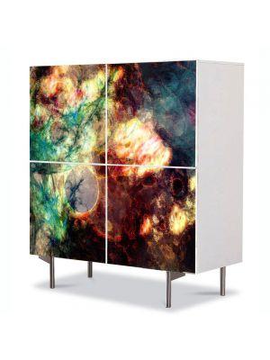 Comoda cu 4 Usi Art Work Abstract Explozie 2, 84 x 84 cm