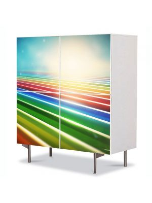 Comoda cu 4 Usi Art Work Abstract Camp abstract, 84 x 84 cm