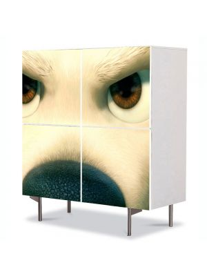 Comoda cu 4 Usi Art Work pentru Copii Animatie Bolt Catelul , 84 x 84 cm