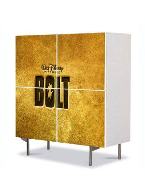 Comoda cu 4 Usi Art Work pentru Copii Animatie Bolt Logo , 84 x 84 cm