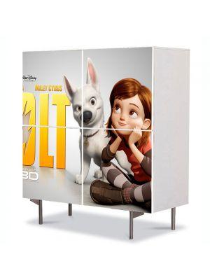 Comoda cu 4 Usi Art Work pentru Copii Animatie Bolt Afis , 84 x 84 cm