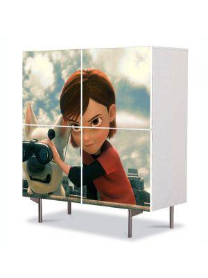 Comoda cu 4 Usi Art Work pentru Copii Animatie Bolt Penny , 84 x 84 cm