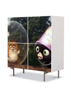 Comoda cu 4 Usi Art Work pentru Copii Animatie Bolt Rhino , 84 x 84 cm
