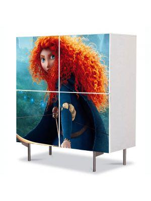 Comoda cu 4 Usi Art Work pentru Copii Animatie Brave 4 , 84 x 84 cm