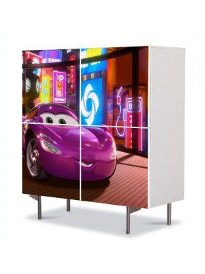 Comoda cu 4 Usi Art Work pentru Copii Animatie Cars 2 2011 , 84 x 84 cm