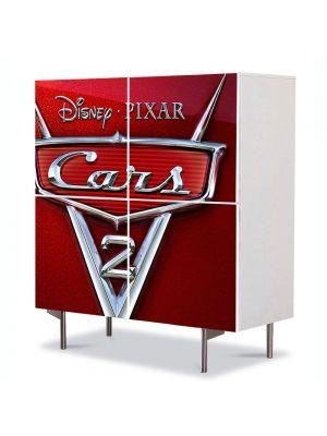 Comoda cu 4 Usi Art Work pentru Copii Animatie Cars Logo , 84 x 84 cm