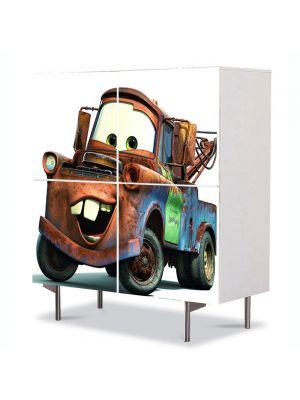 Comoda cu 4 Usi Art Work pentru Copii Animatie Tow Mater , 84 x 84 cm