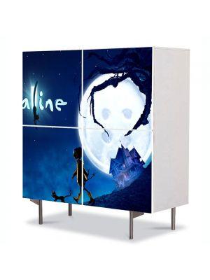 Comoda cu 4 Usi Art Work pentru Copii Animatie Coraline Movie , 84 x 84 cm