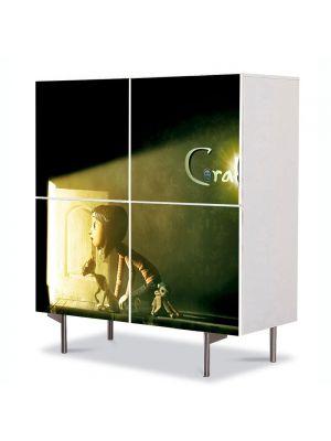 Comoda cu 4 Usi Art Work pentru Copii Animatie Film Coraline , 84 x 84 cm