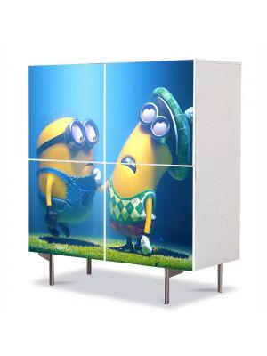 Comoda cu 4 Usi Art Work pentru Copii Animatie Despicable Me 2 2013 , 84 x 84 cm