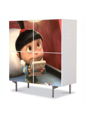 Comoda cu 4 Usi Art Work pentru Copii Animatie Despicable Me 2 Agnes , 84 x 84 cm