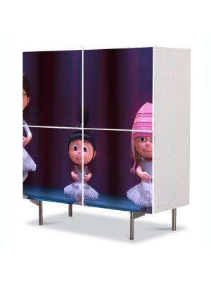 Comoda cu 4 Usi Art Work pentru Copii Animatie Despicable Me 2 Balet , 84 x 84 cm