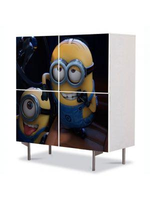 Comoda cu 4 Usi Art Work pentru Copii Animatie Minions , 84 x 84 cm
