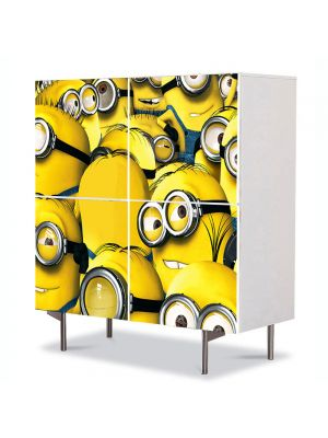 Comoda cu 4 Usi Art Work pentru Copii Animatie Minioni , 84 x 84 cm