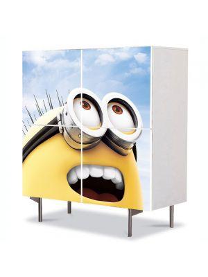 Comoda cu 4 Usi Art Work pentru Copii Animatie Minion , 84 x 84 cm