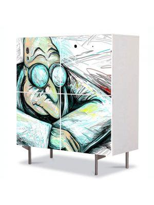 Comoda cu 4 Usi Art Work pentru Copii Animatie Futurama Professor Farnsworth , 84 x 84 cm