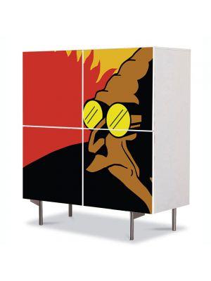 Comoda cu 4 Usi Art Work pentru Copii Animatie Futurama Profesorul , 84 x 84 cm