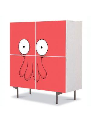 Comoda cu 4 Usi Art Work pentru Copii Animatie Futurama Zoidberg , 84 x 84 cm