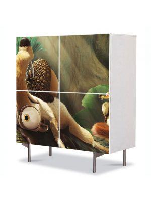 Comoda cu 4 Usi Art Work pentru Copii Animatie Ice Age Dawn of the Dinosaurs , 84 x 84 cm