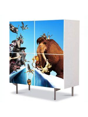 Comoda cu 4 Usi Art Work pentru Copii Animatie Ice Age Continental Drift , 84 x 84 cm