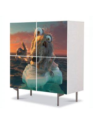 Comoda cu 4 Usi Art Work pentru Copii Animatie Ice Age Continental Drift 2 , 84 x 84 cm
