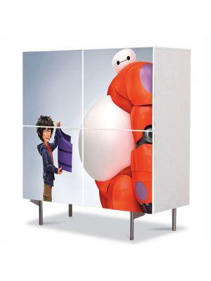 Comoda cu 4 Usi Art Work pentru Copii Animatie Big Hero 6 , 84 x 84 cm