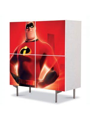 Comoda cu 4 Usi Art Work pentru Copii Animatie Mr Incredible , 84 x 84 cm