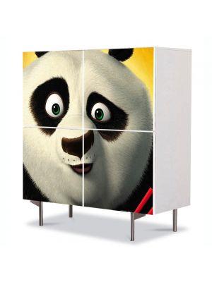 Comoda cu 4 Usi Art Work pentru Copii Animatie Kung Fu Panda The Kaboom of Doom , 84 x 84 cm