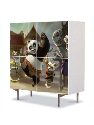 Comoda cu 4 Usi Art Work pentru Copii Animatie Kung Fu Panda , 84 x 84 cm