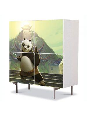 Comoda cu 4 Usi Art Work pentru Copii Animatie Kung Fu Panda 2 , 84 x 84 cm