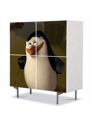 Comoda cu 4 Usi Art Work pentru Copii Animatie Madagascar 3 Pinguinii , 84 x 84 cm