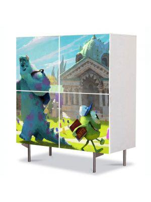 Comoda cu 4 Usi Art Work pentru Copii Animatie Monster University 2013 Concept , 84 x 84 cm
