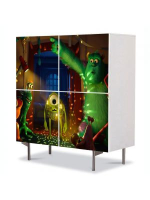Comoda cu 4 Usi Art Work pentru Copii Animatie Monster University Party , 84 x 84 cm