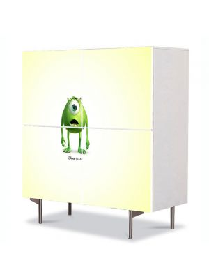 Comoda cu 4 Usi Art Work pentru Copii Animatie Monsters Inc. , 84 x 84 cm