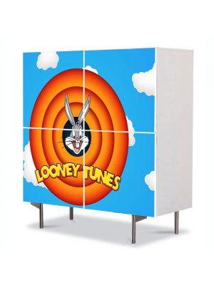 Comoda cu 4 Usi Art Work pentru Copii Animatie Disney Looney Tunes , 84 x 84 cm