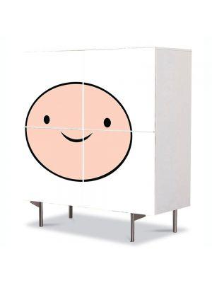 Comoda cu 4 Usi Art Work pentru Copii Animatie Adventure Time Finn , 84 x 84 cm