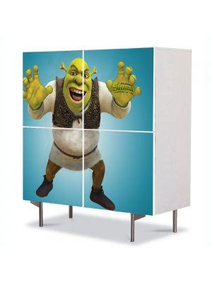 Comoda cu 4 Usi Art Work pentru Copii Animatie Shrek Forever After Filmul , 84 x 84 cm