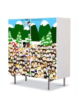 Comoda cu 4 Usi Art Work pentru Copii Animatie South Park Toate Personajele , 84 x 84 cm