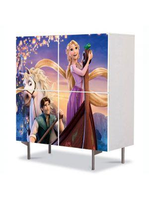 Comoda cu 4 Usi Art Work pentru Copii Animatie Tangled Musical Film , 84 x 84 cm