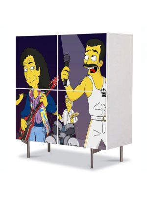 Comoda cu 4 Usi Art Work pentru Copii Animatie The Simpsons Queen , 84 x 84 cm