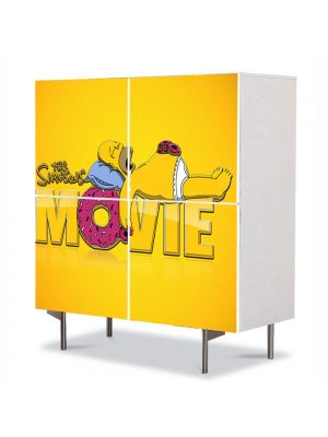 Comoda cu 4 Usi Art Work pentru Copii Animatie The Simpsons Filmul , 84 x 84 cm
