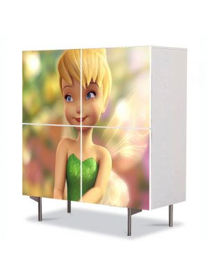 Comoda cu 4 Usi Art Work pentru Copii Animatie Tinkerbell , 84 x 84 cm