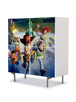 Comoda cu 4 Usi Art Work pentru Copii Animatie Toy Story 3 Great Escape , 84 x 84 cm